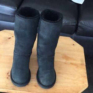Australia ugg sz6 tall black suede boots good